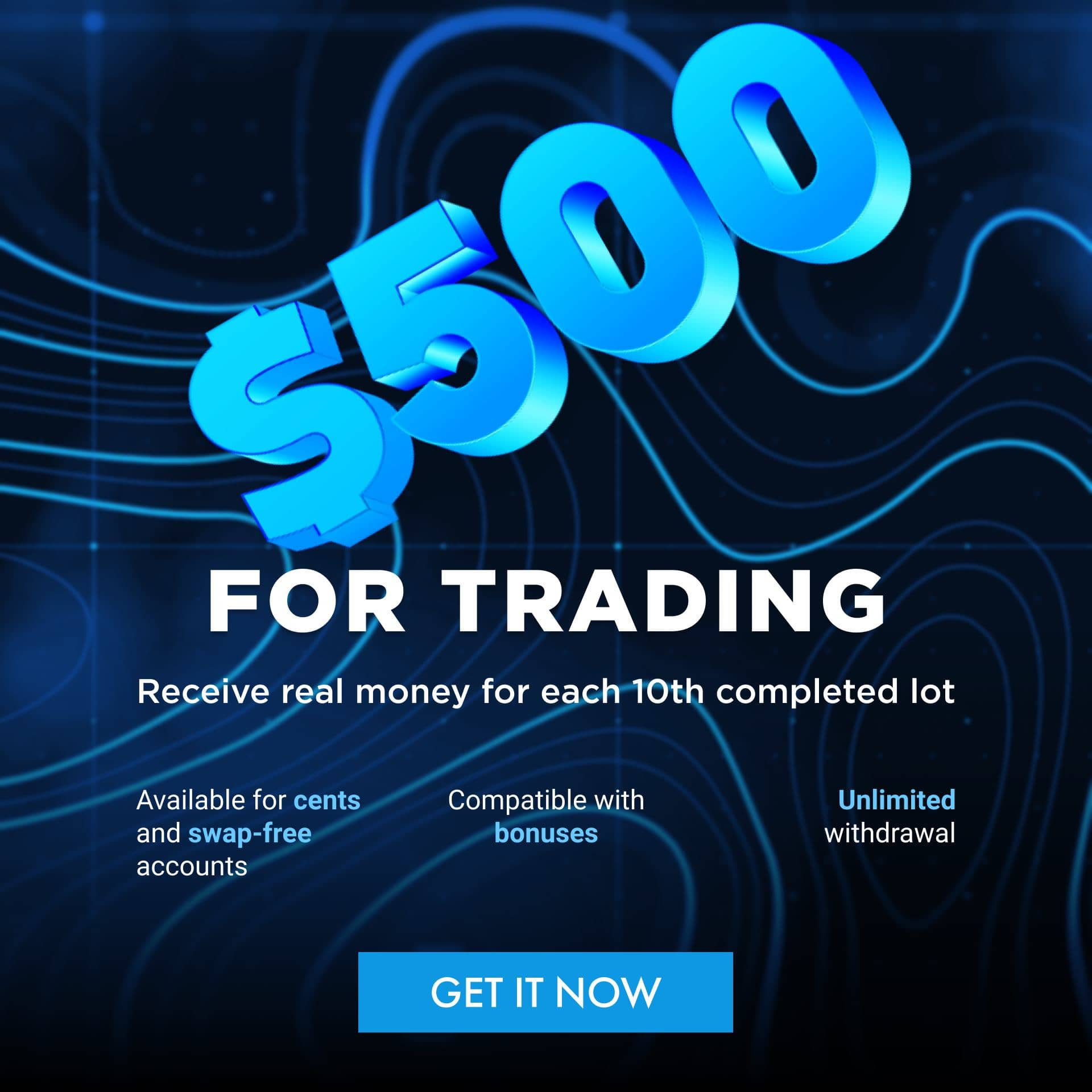 $500 FOR TRADING